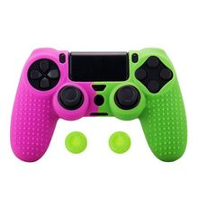 silicone cover skin for dualshock 4 ps4 pro slim controller case and thumb grips caps for play station 4 game accessories Silicone Cover Skin for Dualshock 4 PS4 Pro Slim Controller Case and Thumb Grips Caps for Play Station 4 Game Accessories
