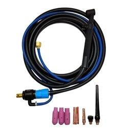 Tête Flexible d'outil de torche de tête de soudure de Tig de WP-17V avec le câble 35/50 4M de valve de gaz