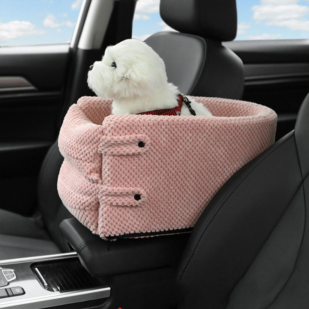 Car Pet Safety Seat Auto Seat Center Console Dog Cat Nest Pad Portable  Removable Pet Carrier Bag Puppy Booster For Automobile Cat Beds & Mats  -  AliExpress