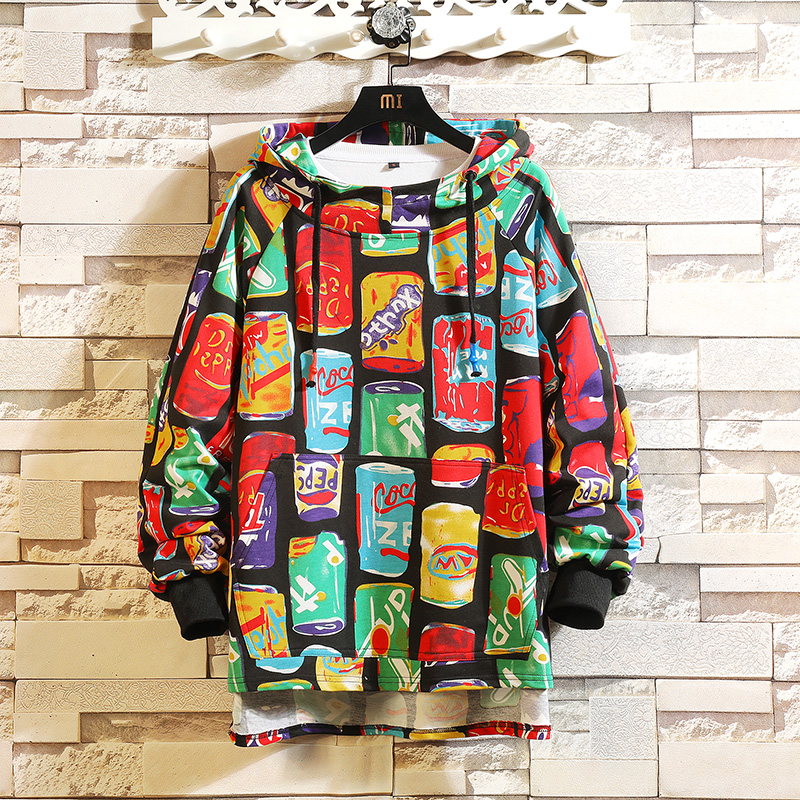 2019 AUTUMN  Spring Fashion High Quality Print Sweatshirt Men Hip Hop Long Sleeve Pullover Hoodies Sweatshirt Clothes