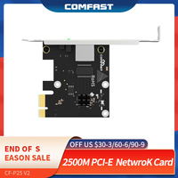2500Mbps Gigabit Scheda di Rete di Gioco ad Alta velocità 10/100/1000Mbps RJ45 Porta Ethernet 2.5Gbps Desktop PCI-E Adattatore per Win7/8/10