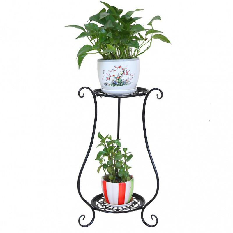rought iron multi-layer balcony flower stand simple indoor living room flower shelf floor-standing green flower pot shelf