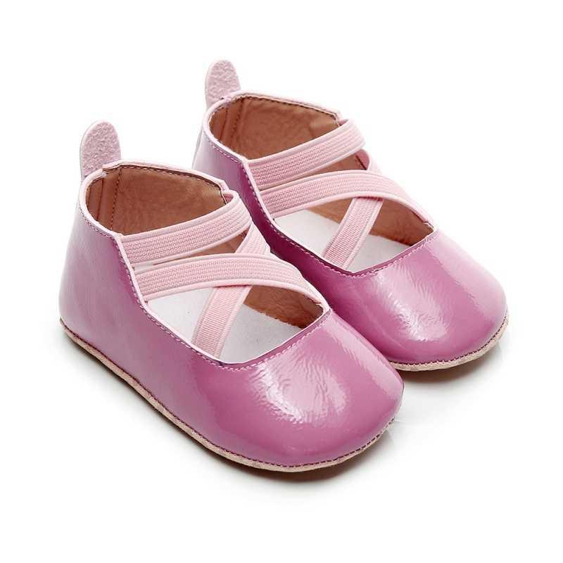 Обувь для маленьких девочек из искусственной кожи; обувь для маленьких принцесс; милая обувь для новорожденных; обувь для новорожденных девочек 0-18 месяцев