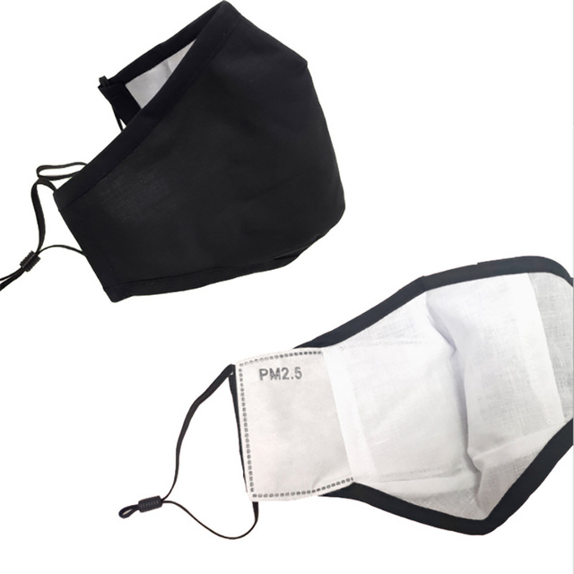PM2.5 anti haze and dustproof adult cotton mask black men's and women's warm breath valve mask in autumn and winter 2