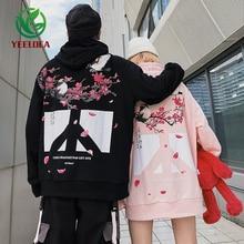 2019 새로운 중국 스타일 까치 안티 전쟁 인쇄 후드 남성과 여성 느슨한 트렌드 하이 스트리트 힙합 패션 커플 후드