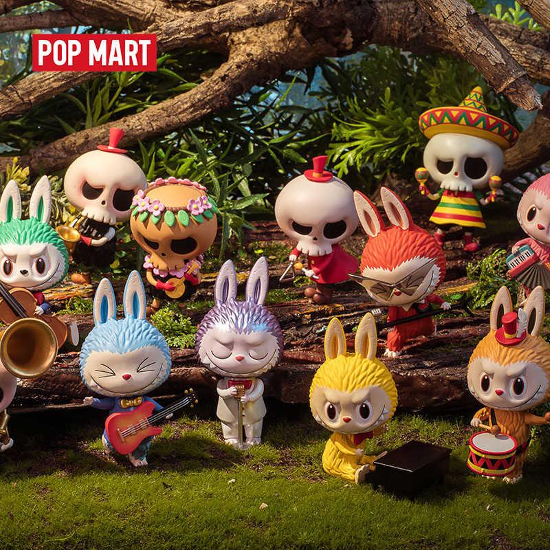 Popmart labubu floresta concerto série brinquedos figura de ação presente aniversário do miúdo brinquedo frete grátis