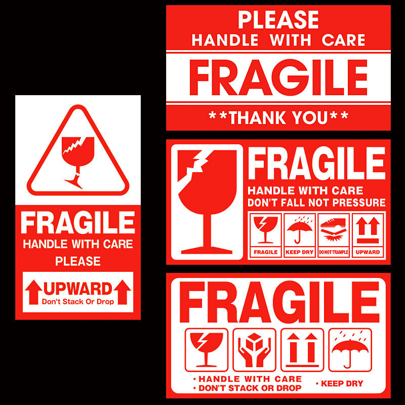 Express Label Fragile Warning Sticker Special Tag Handle With Care Keep