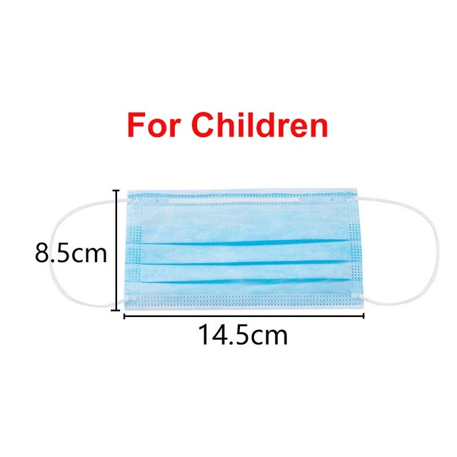 3 layer kids mask Anti-dust Mouth Face children Masks Protection flu mask Masque Disposable Masks for kids Masks For Children 1