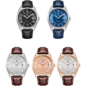 Image 2 - パガーニメンズ高級ファッション自動機械式時計男性スポーツ防水本革腕時計レロジオ Masculino