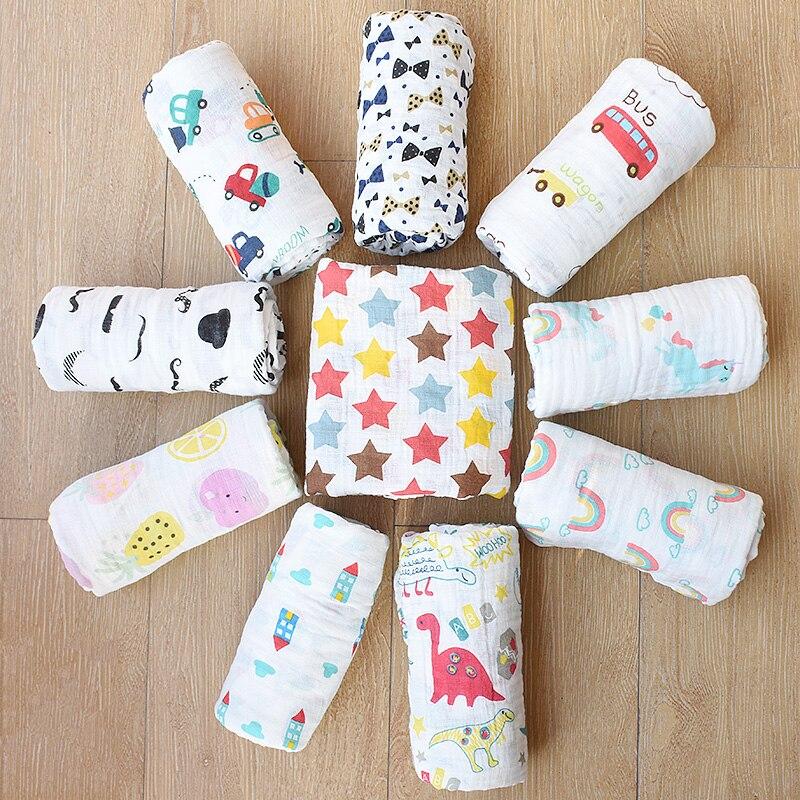 3pcs/lot Muslin 100% Cotton Baby Swaddles Newborn Blankets Bath Gauze Infant Wrap Sleepsack Stroller Cover Play Mat Baby Deken