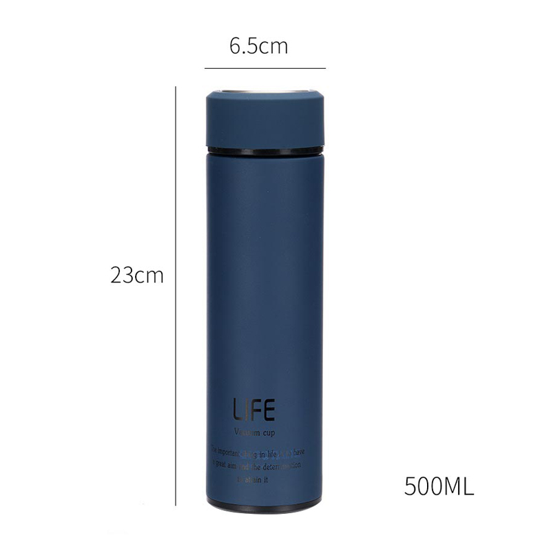 Omife Double Wall Vacuum Flasks Thermoses 500ml Thermos Cup Coffee Tea Travel Mug Thermos Bottle Stainless Steel Thermocup in Vacuum Flasks Thermoses from Home Garden