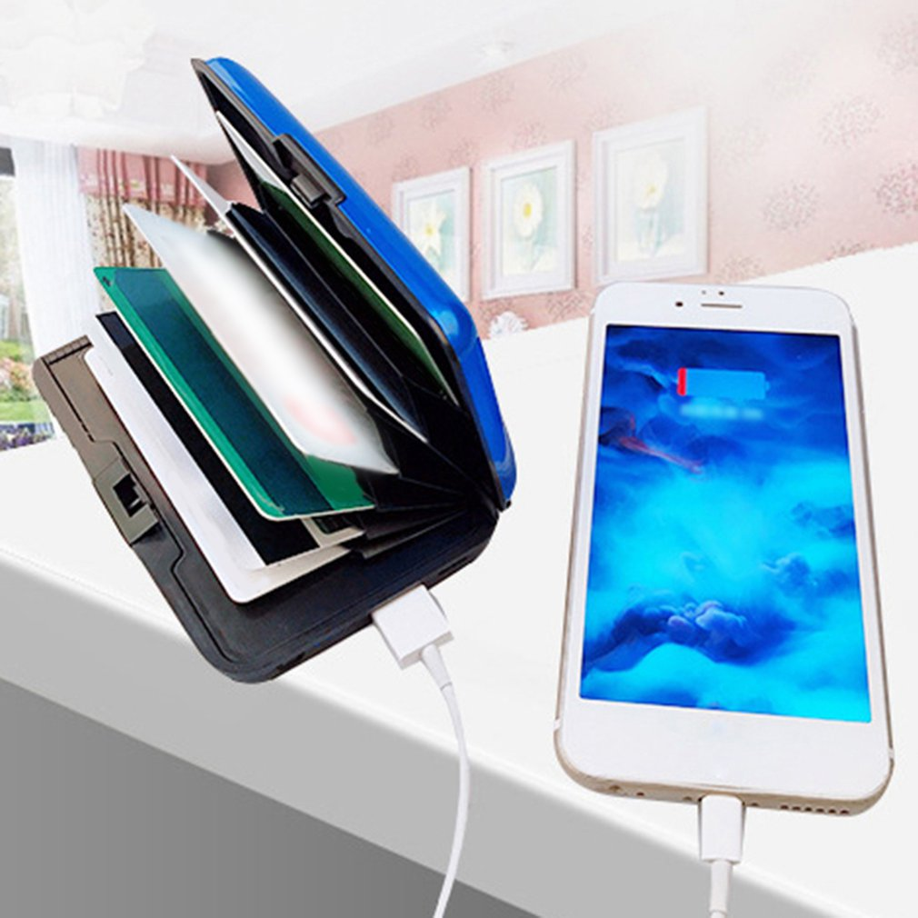 Multifunctional Charger Card Package 2500MAH USB Charger Charging Pad External Battery Power Bank Card Holder in Chargers from Consumer Electronics
