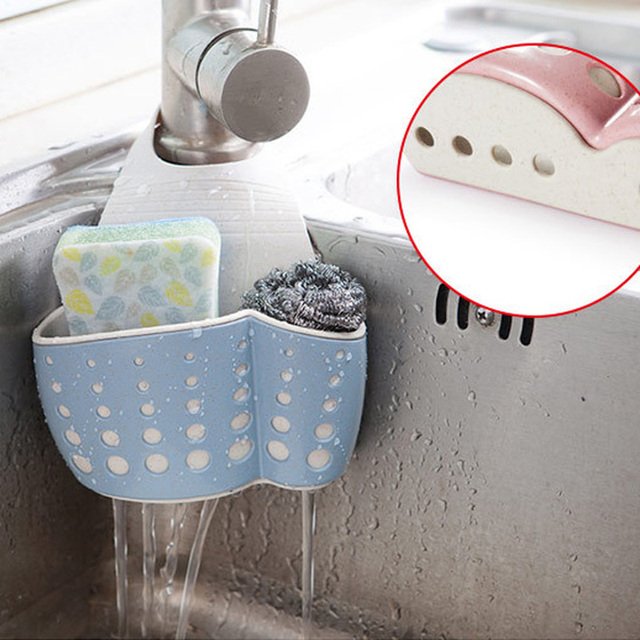 Sink Shelf Soap Sponge Drain Rack Bathroom Holder Storage Suction Cup Kitchen Organizer Sink kitchen Accessories Wash WF809223