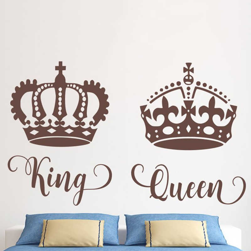 Queen Crown Wall Sticker Bedroom Sofa