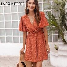 Everafter сексуальное летнее платье с v образным вырезом для