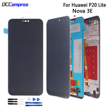 Original For HUAWEI P20 Lite LCD Display Touch Screen For HUAWEI Nova 3E P20 Lite ANE-LX1 ANE-LX3  Screen LCD Display With Frame for huawei nova 3e case aluminum metal bumper case for huawei p20 lite dual color frame for huawei nova 3e case cover 5 84