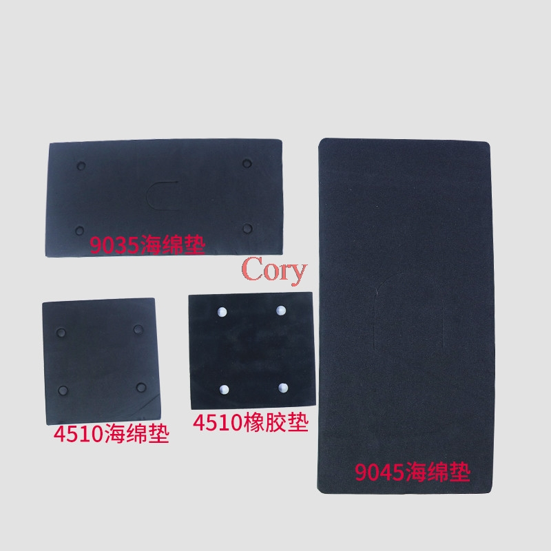 2pcs Square/Rectangle Flat Sanding Machine Mat For Makita 4510/9035/9045 Sander Machine Sponge Rubber Sandpaper Pad