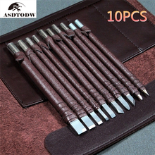 Professional 3/8/10Pcs Tungsten Steel Stone Carving Hand Tools Set Stone Carving Chisel Set Woodworking Carving Tool
