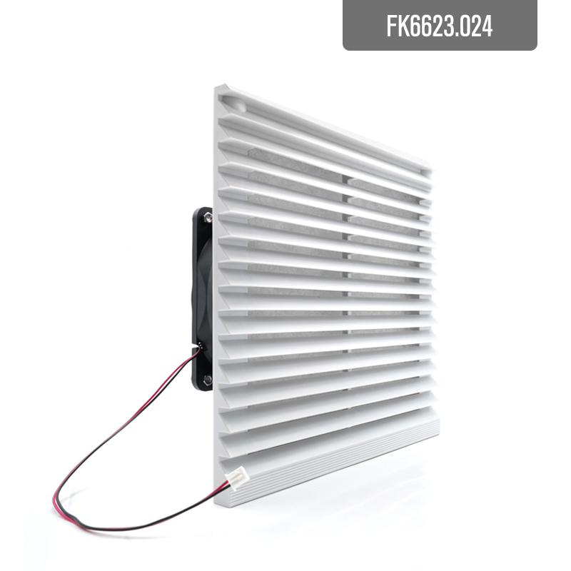 204*204 Mm DC24V 12v Dc Dual Ball Bearing 12038 Axial Fan  And Air Filter Ventilation Vent Fan Filters Ventilator FK6623.024