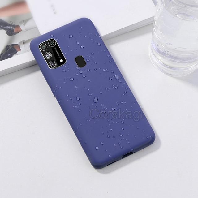Soft Liquid Silicone Cover Case For Samsung Galaxy M51 M31 M21 M31S S20 FE S10 Lite S10e Note 10 20 A12 A51 A71 A31 A52 A21S A72 5