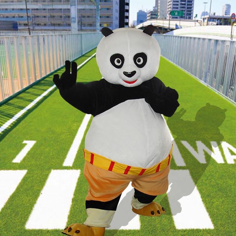 Factory Direct Sale Custom Classic Kongfu Panda Mascot Costume Adult Halloween Birthday Party Cartoon Apparel Cosplay Costumes