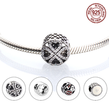 925 Sterling Silver Love Bead Heart Bead Charm Fit Original Charms Bracelet Necklace Women DIY Jewelry цена 2017
