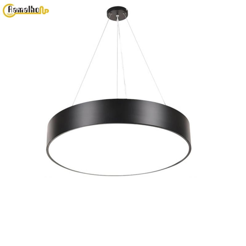 Современный светодиодный подвесной светильник, Креативные Круглые подвесные лампы, освещение для ресторана, офиса, Интернет-кафе