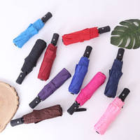 Hersteller Direct Selling 21 Zoll Voll Automatische Tri falten Regenschirm Automatische Öffnen Schließen Business Geschenk Regenschirm Anpassbare auf