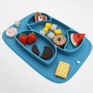 Детский Силиконовый поднос, присоска для кормления ребенка, ваджиллы, plato, Детская миска для еды, pratos, детская миска для еды, prato infantile