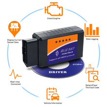 ELM327 Bluetooth OBD2 V2.1 Android PC Car Diagnostic Tool Scanner For Volkswagen Lada Infiniti Volvo Renault Mitsubishi Subaru