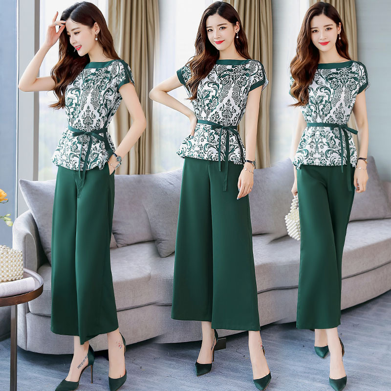Korean-style Trend Versitile Fashion Casual Slim Fit Slimming Elegant Solid Color 2019 New Style Short Sleeve Mid-length