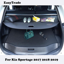 Car styling For Kia Sportage 2017 2018 2019 accessories Trunk Cargo Cover Luggage Security Shade Shield partition Rear Racks цены онлайн