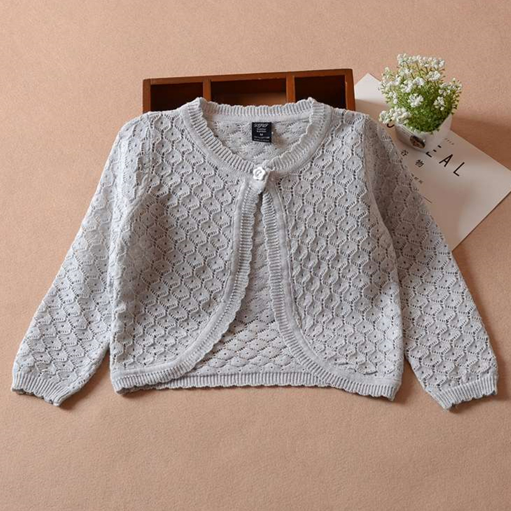 3-36month Gray Baby Girls Cardigan Jacket Little Girl Pink Yellow Shawl Baby Girls Clothes for 1 2 3 Years Old OGC215408