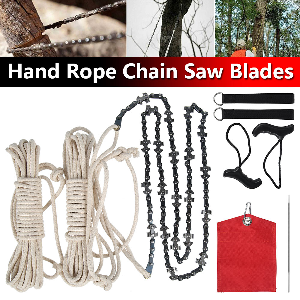Saw Blade High Branch Saw with Sandbag File Garden Outdoor Logging Pruning Tool High Extension Branch Hand Rope Chain Saw Blade