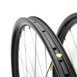 Image 4 - ELITEWHEELS 29 inç MTB karbon tekerlekler Novatec D411 düz çekme Hub karbon tekerlekler et 29er Mtb jantlar 30mm genişlik bisiklet tekerleği