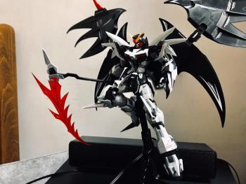New SUPER NOVA model Gundam Deathscythe HELL XXXG-01D2 XXXG-01D MG 1/100 action figure assembly toy kit included in base [show z store] 3r mg 1 100 gat x103 buster gundam ally frame upgrade kits action figure