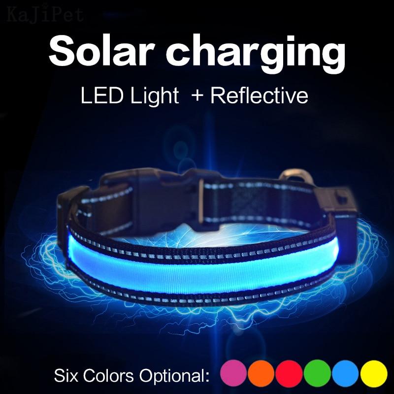 Solar Charging Led Dog Collar  1