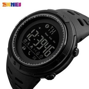 Image 2 - SKMEI inteligentny zegarek mężczyźni kobiety przypomnienie połączeń Bluetooth zegarki na rękę Smartwatch męskie damskie zegarki sportowe reloj inteligente 1250
