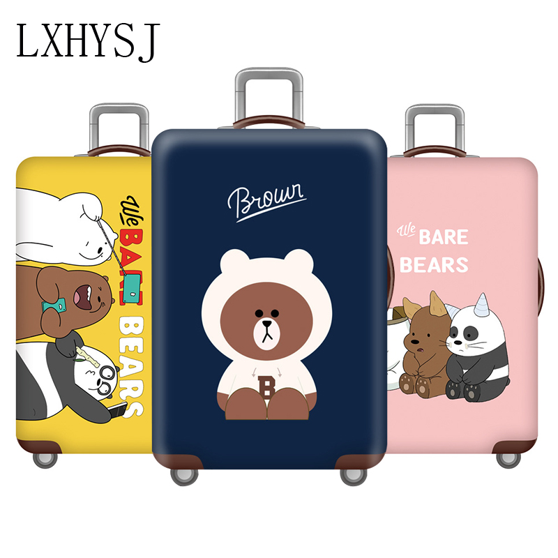 New Elasticity Luggage Cover Suitcase Protective Covers Travel Thicken Suitcase Case Suitable For 18-32 Inch Trolley Case Cover