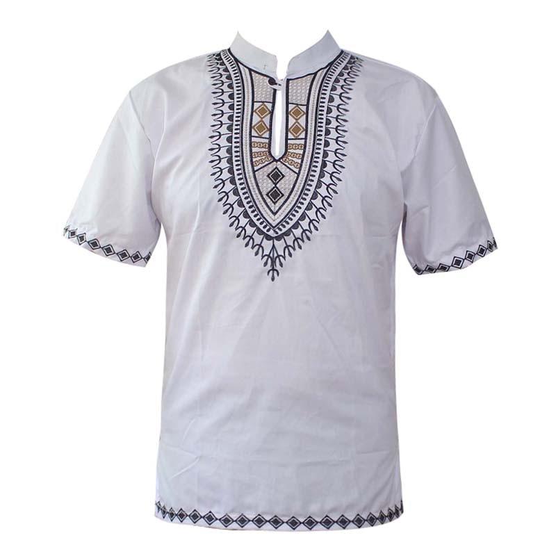 Summer Wear Saree Ethnic Embroidery India Dashiki Tops Mandarin Collar African Shirts мусульманская рубашка мужская