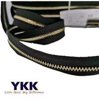 10m/lot 5# long continuous YKK metal zipper chain black with slider pocket suitcase handbag tailor sewing accessories