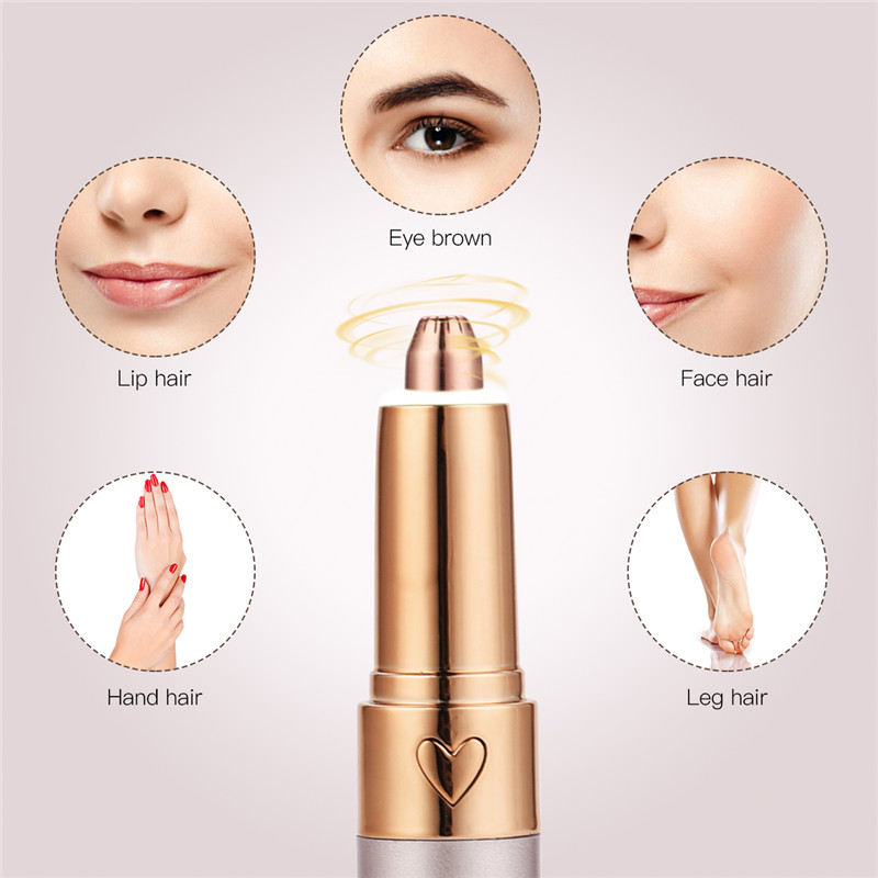 Electric Eyebrow Trimmer Face Razor Epilator Woman Makeup Remove Face Lip Leg Hair Eyebrow Luxury Shaver Brow Trimmer New User