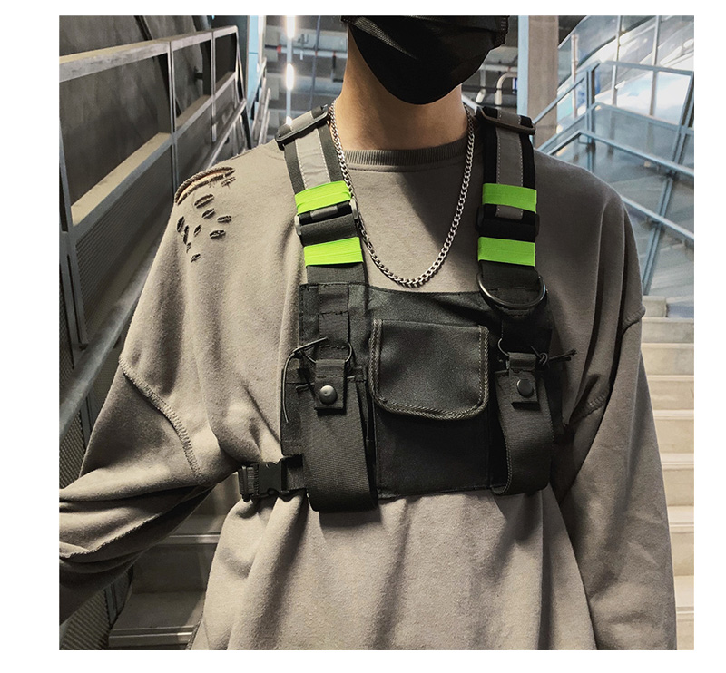 H9723c7279d884a2c907b39728e62c054B - Chest-Rig Bag Hip-Hop Streetwear Waist Bag Adjustable Men Tactical Chest Bags Fanny Pack Men Streetwear Kanye Waistcoat Male