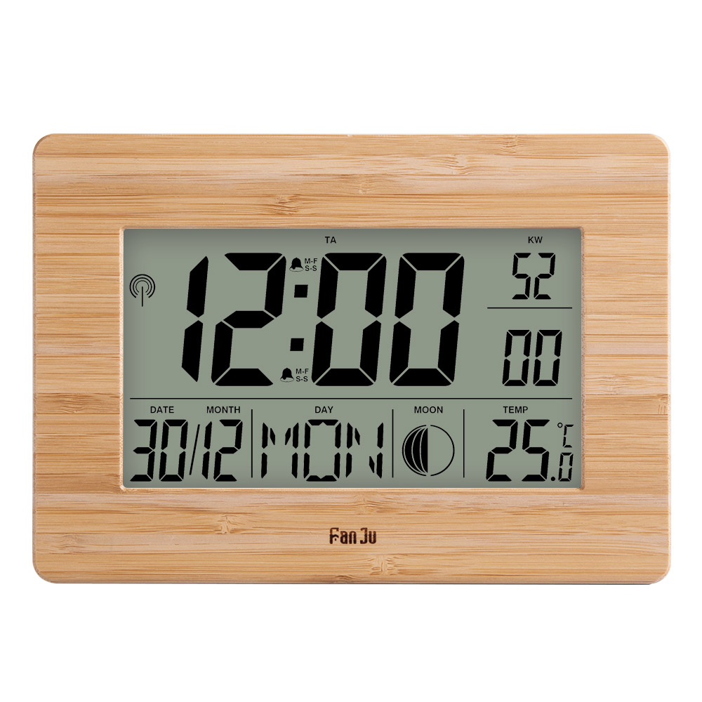 Image 1 - FanJu FJ3530 LCD Digital Wall Clock Alarm Big Size Number 