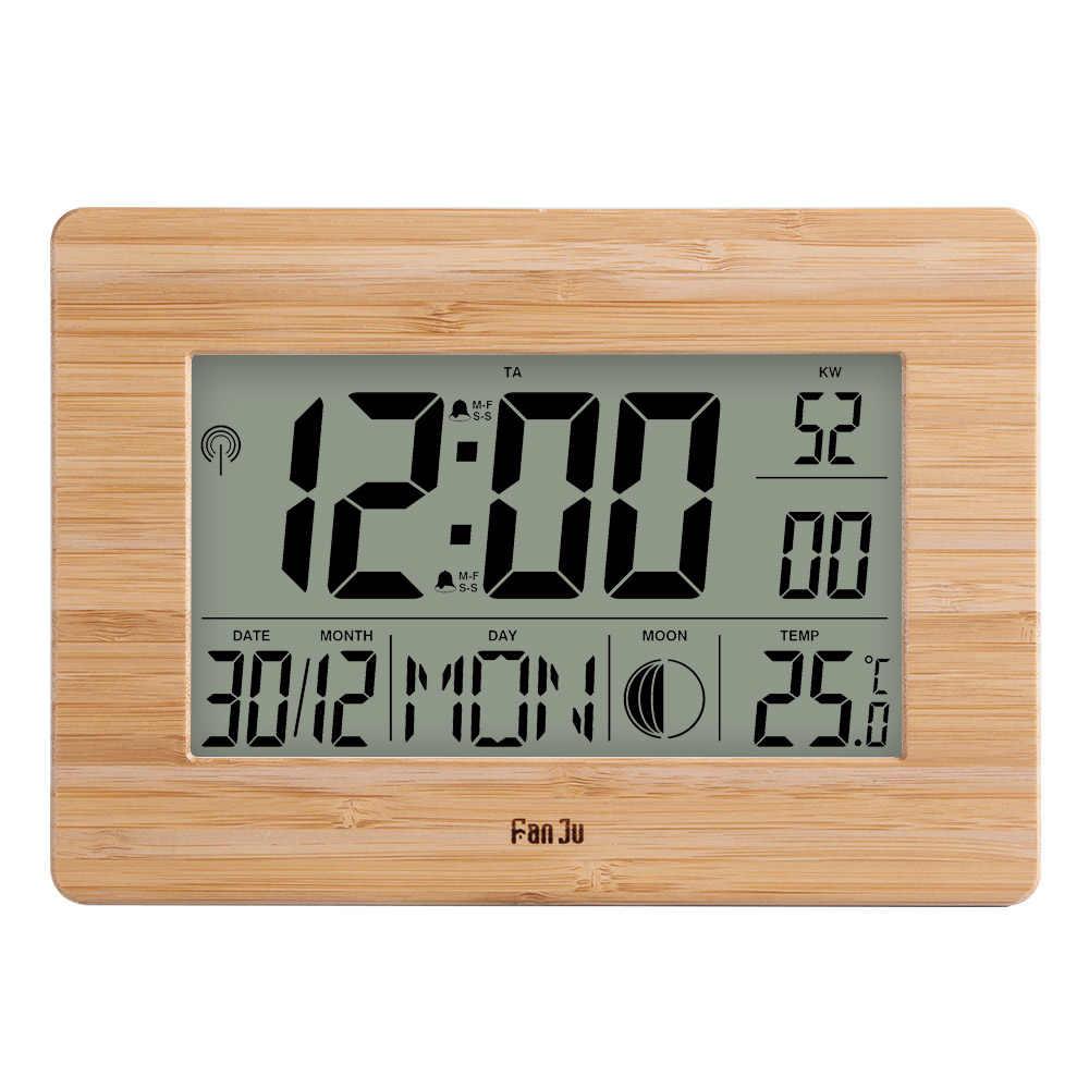 FanJu FJ3530 MÀN HÌNH LCD Kỹ Thuật Số Đồng Hồ Báo Thức Size Lớn Số Đa Chức Năng Nhiệt Độ Đồng Hồ Để Bàn Đầu Giường Nhiệt kế đồng hồ Lớn
