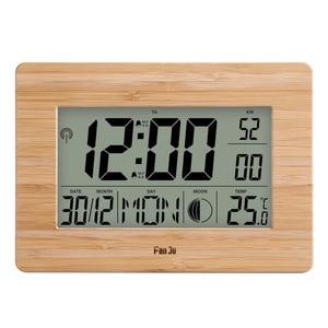 Image 1 - Цифровые настенные часы FanJu FJ3530 с ЖК дисплеем, многофункциональные настольные часы с цифрами, прикроватный термометр, большие часы