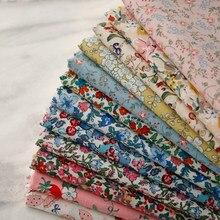 ZENGIA-tela para coser algodón de popelina, 50x140cm, Floral, bricolaje, ropa para niños, decoración de ropa de bebé, 160 g/metro