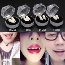 13/15/17/19mm Vampire Teeth Fangs Dentures Prop Halloween Costume Props Party Supplies Holiday DIY Decorations Horror Adult Kids(China)