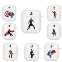 AirPods 1 2 Weiß Fall Luxus Cartoon Schutzhülle Marvel Avengers Unendlichkeit Krieg Spinne Mann