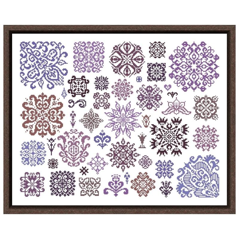 Pretty Purple Motifs, Counted Cross Stitch Kit